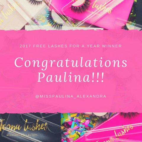 Free Lashes For A Year Winner Sweepstakes Giveaway