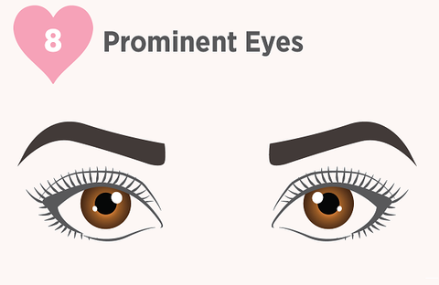 prominent eyes, lashes for prominent eyes, false lashes for prominent eyes, eyelashes for prominent eyes, protruding eyes