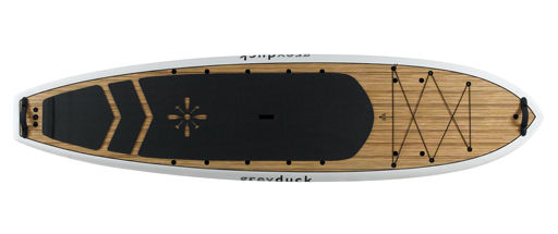Grey Duck All Day Hybrid Hull SUP for Fishing, Touring, and Recreation