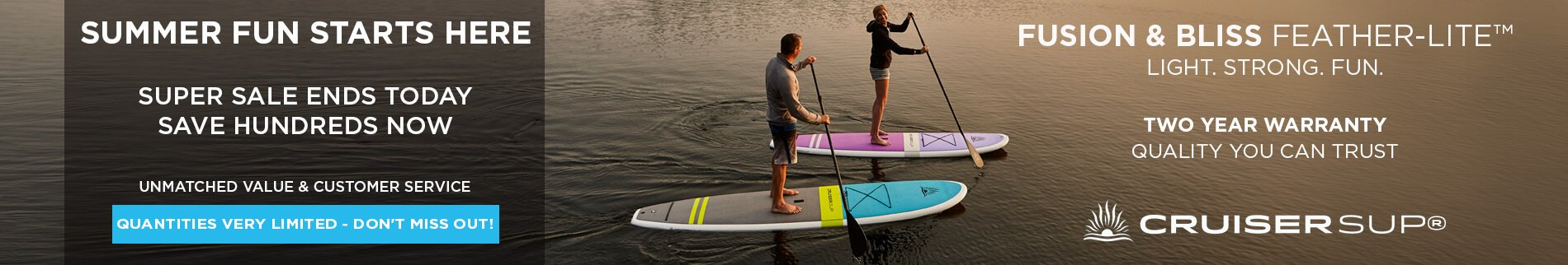 Fusion - Bliss - FeatherLite Stand Up Paddle Boards