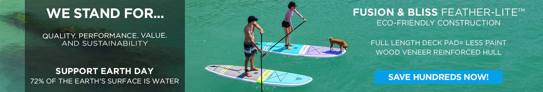 Feather-Lite Wood Paddle Boards SUPer Sale