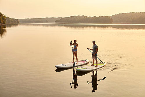 Crossover Paddleboard by Cruiser SUP on water