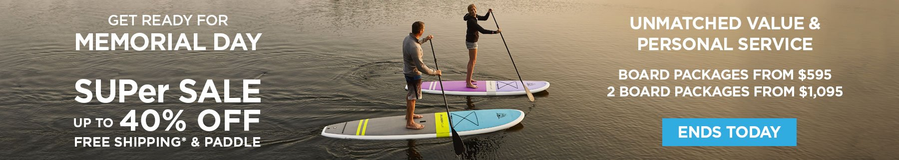 Spring SUPer Sale - Up to 40% Off Board Packages from $595