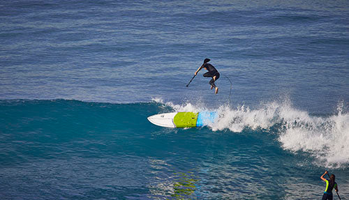 Cruiser SUP all-terrain surfing on water