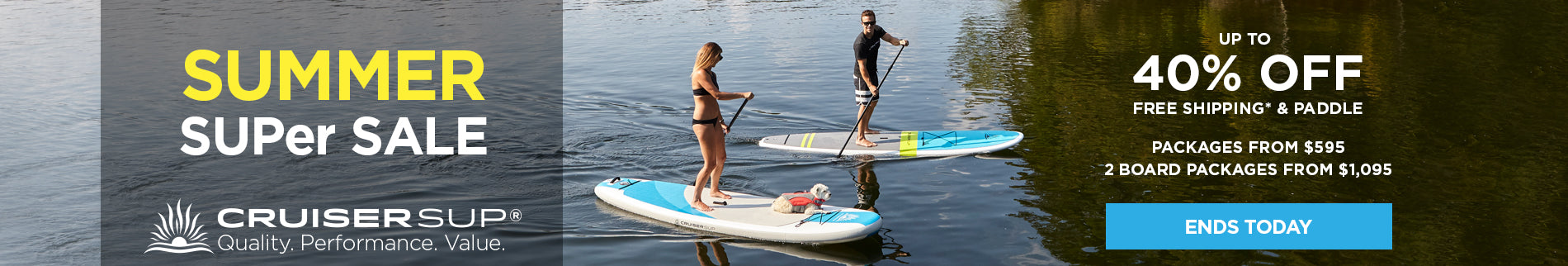 Stand Up Paddle Board SUPer Sale - Up to 40% Off Board Packages from $595