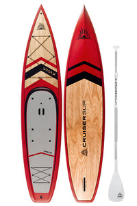 Cruiser SUP V-Max 12'6 Touring stand up paddle board - Red