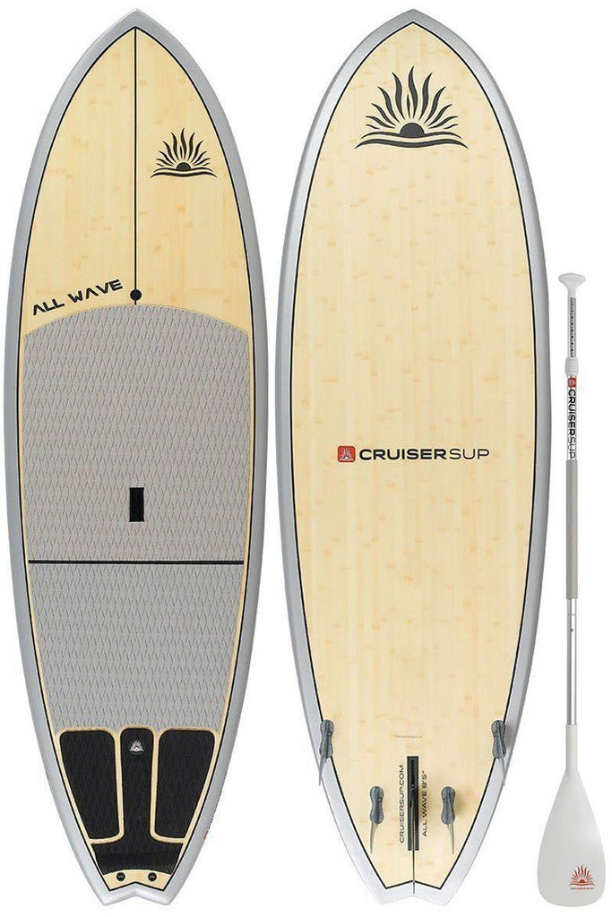 "CruiserSUP® All-Wave Classic 7'11""-8'10"" Ultra-Lite Bamboo/Carbon/Kevlar w/ FCSII Fin System Paddle Board"