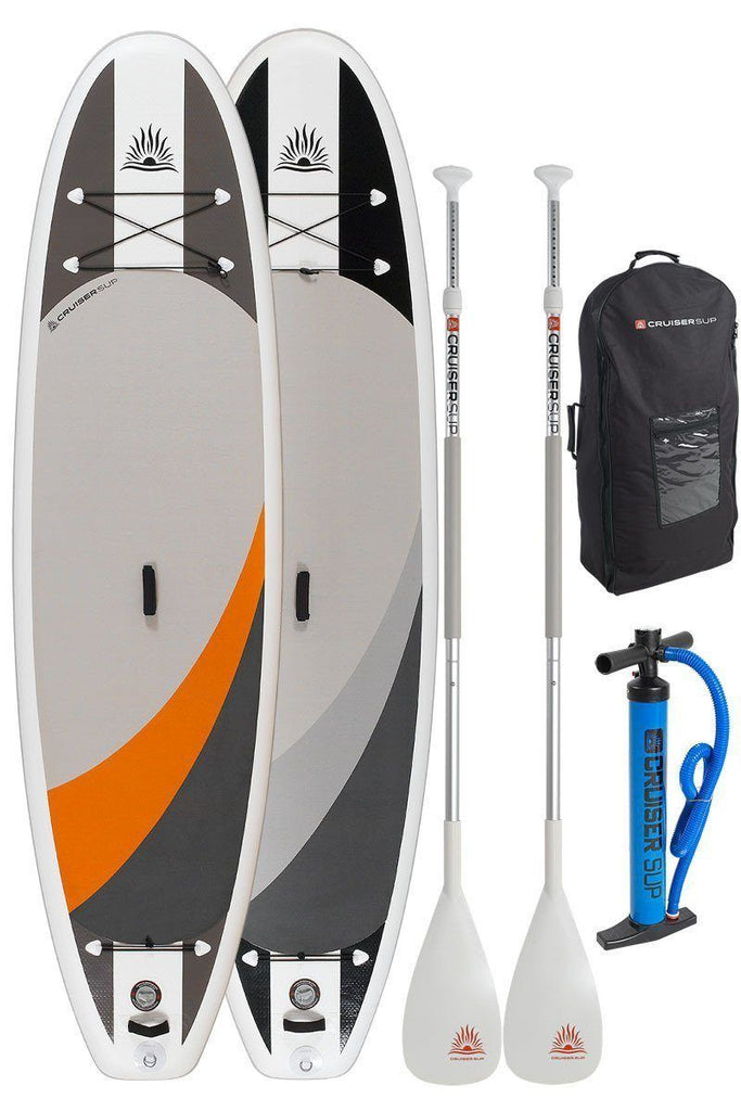 "Cruiser SUP  Crossover Air DL 10'2"" -11'6"" Double Layer Inflatable w/Wheeled Back Pack Two Board Package"
