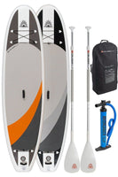 "Two Cruiser SUP  Crossover Air DL 10'2"" -11'6"" Double Layer Inflatable w/Wheeled Back Pack Combo"