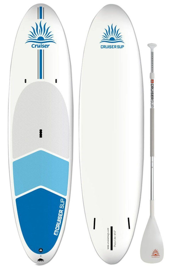 "Cruiser SUP Dura-Lite 10'6"" with Premium Deck Pad and Three Fins"