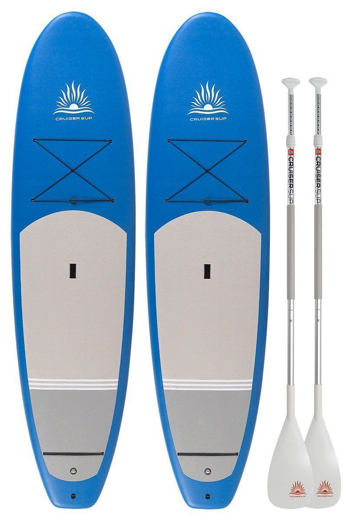 "Two Cruiser SUP Performer Soft-Top 9'- 9'8"" Fiberglass/Carbon with Dura-Soft Full Wrap Deck Pad - Combo Board Package"
