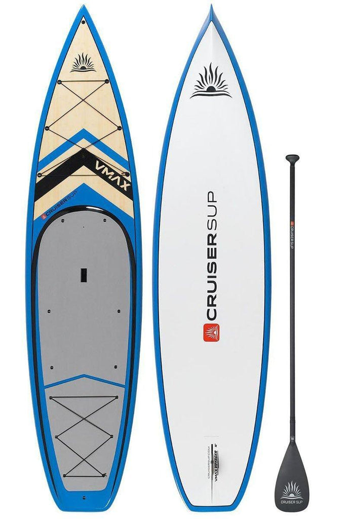 "CruiserSUP® V-Max Voyager 12' x 34"" Adventure Ultra-Lite Bamboo/Carbon/Kevlar/PVC Paddle Board"