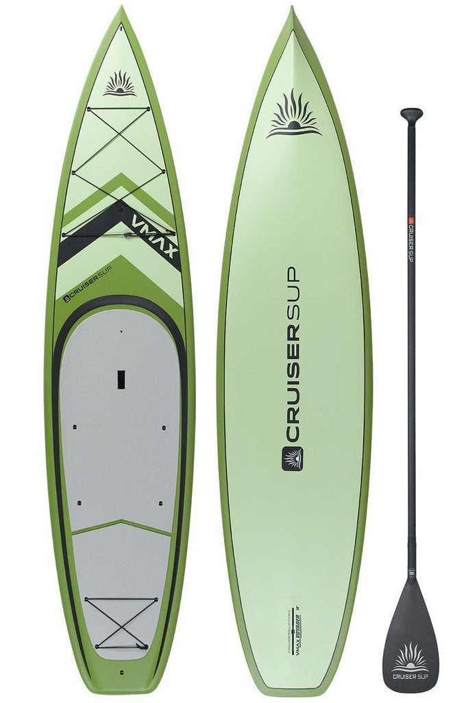 "Cruiser SUP V-Max Adventure 12' x 34"" Fishing Ultra-Lite Bamboo/Carbon/Kevlar/PVC - OVERWEIGHT DISCOUNT"