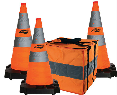 Aervoe 28″ H.D. Collapsible Safety Cone 3-Pack