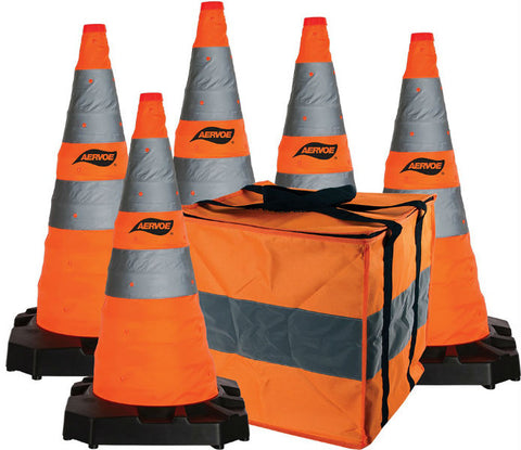 Aervoe 28″ H.D. Collapsible Safety Cone 5-Pack