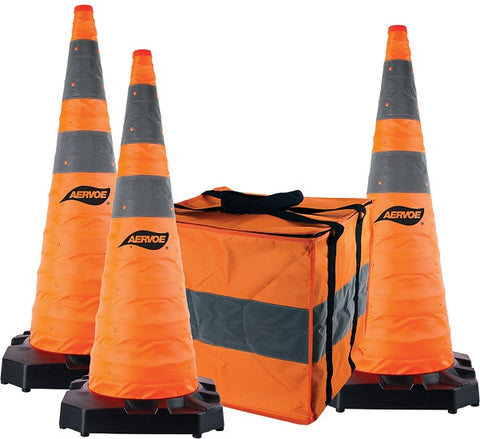 Aervoe 36″ H.D. Collapsible Safety Cone 3-Pack