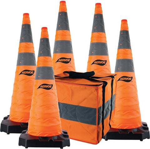 Aervoe 36″ H.D. Collapsible Safety Cone 5-Pack