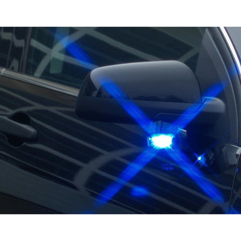 SoundOff Signal Intersector Mirror LED Blue
