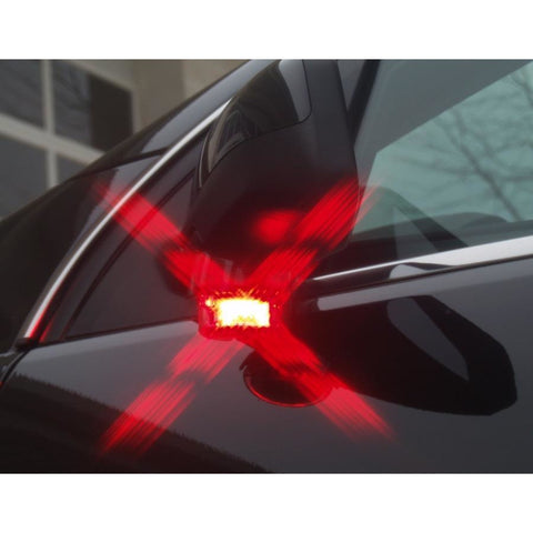 SoundOff Signal Intersector Mirror LED Red