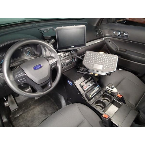 Havis 2013-2017 Ford Interceptor Utility police Vehicle specific Angled console