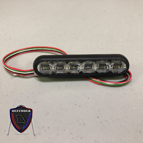 "SoundOff Signal mPower Fascia 4 Warning Light, 4"" 12-LED Dual Color"