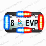 8EVP EOS LED Emegency Vehicle Warning Light License Plate Kit, Red and Blue Stock Image