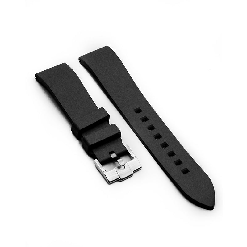 FLUORO RUBBER STRAP - BLACK