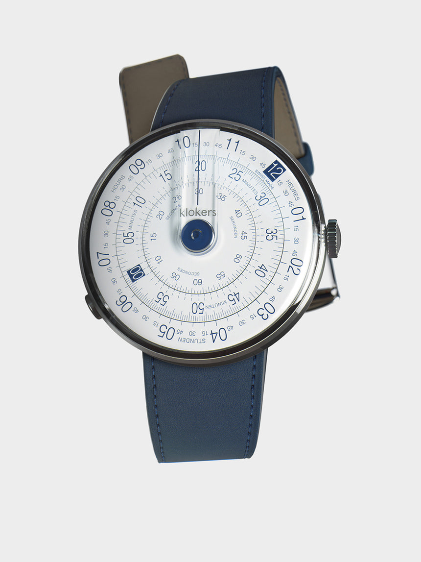 KLOKERS KLOK-01-D4.1 Blue / Indigo Blue Leather