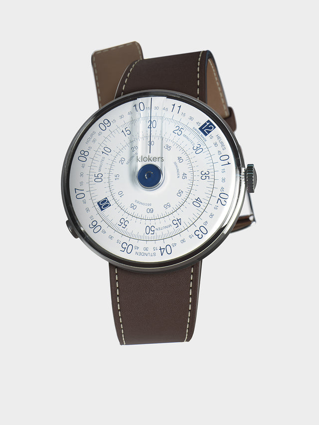 KLOKERS KLOK-01-D4.1 Blue / Chocolate Brown Leather