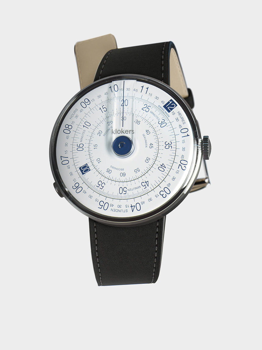 KLOKERS KLOK-01-D4.1 Blue / Matte Black Leather