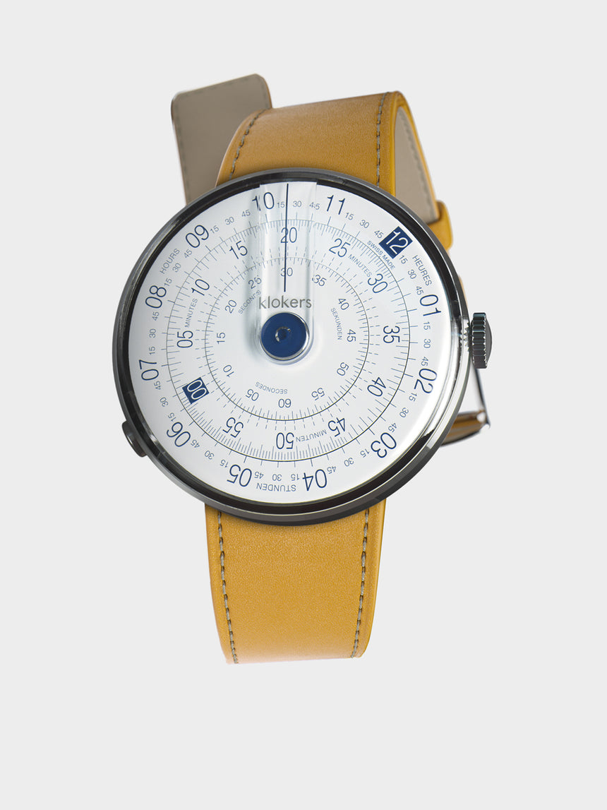 KLOKERS KLOK-01-D4.1 Blue / Newport Yellow Leather