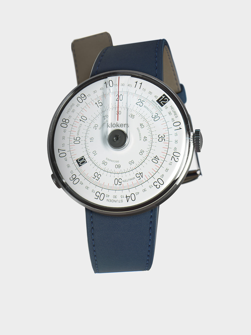 KLOKERS KLOK-01-D2 Grey / Indigo Blue Leather