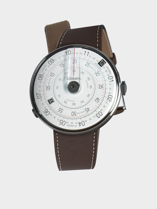 KLOKERS KLOK-01-D2 Grey / Chocolate Brown Leather