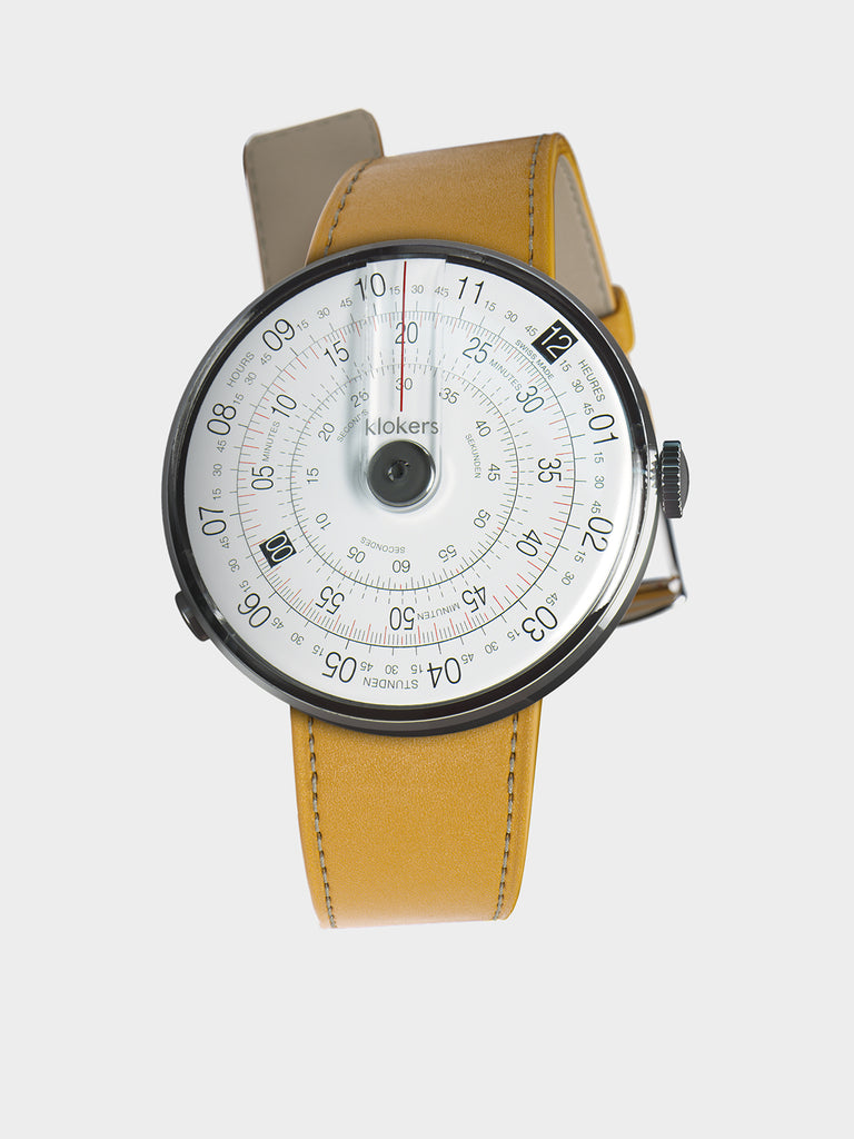 KLOKERS KLOK-01-D2 Grey / Newport Yellow Leather