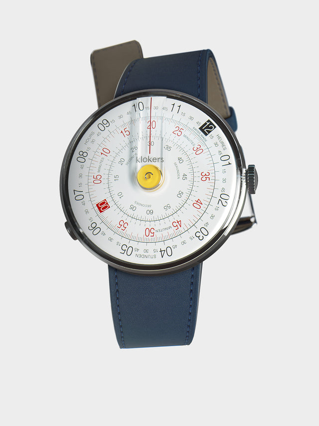 KLOKERS KLOK-01-D1 Yellow / Indigo Blue Leather