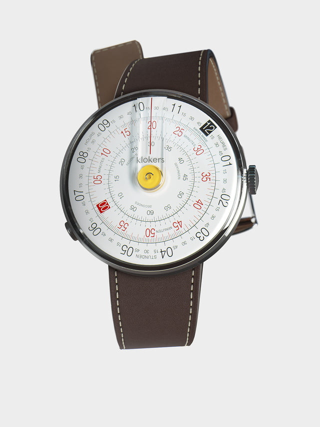KLOKERS KLOK-01-D1 Yellow / Chocolate Brown Leather