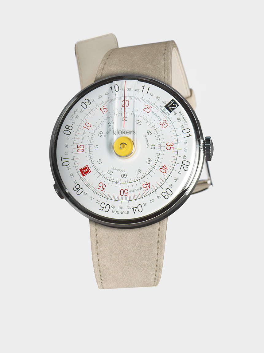 KLOKERS KLOK-01-D1 Yellow / Grey Alcantara Leather