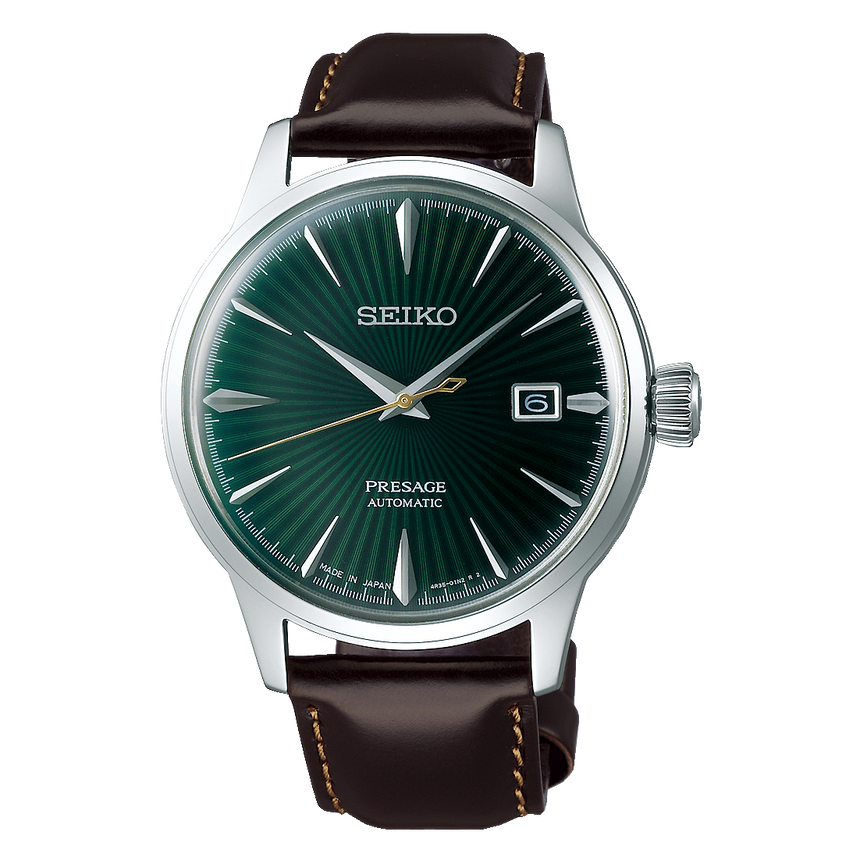 "SEIKO PRESAGE AUTOMATIC COCKTAIL ""MOCKINGBIRD"" - SRPD37J1"