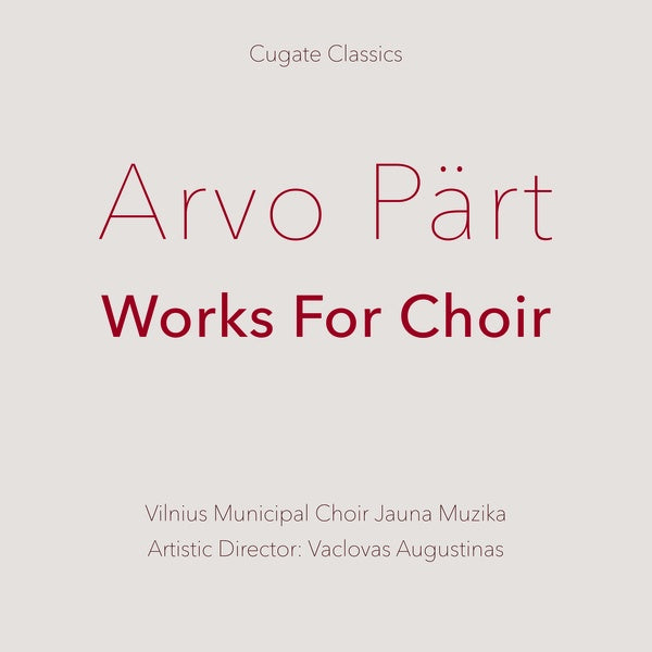 Arvo Part - Works For Choir LP