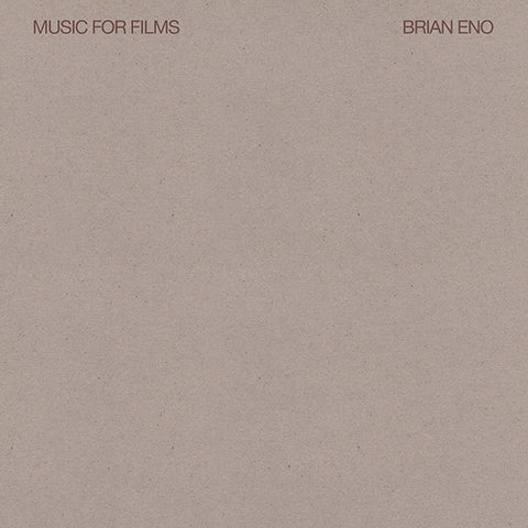 Brian Eno - Music For Films LP