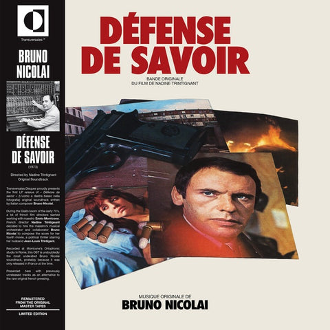 Bruno Nicolai - Defense De Savoir LP