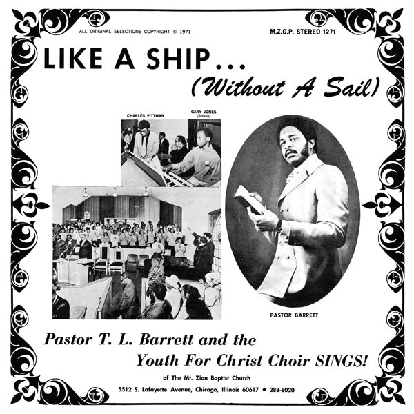 Pastor T.L. Barrett And The Youth For Christ Choir - Like A Ship (Without A Sail) LP