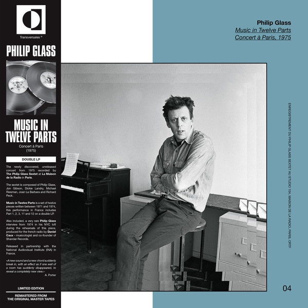 Philip Glass - Music In Twelve Parts (Live In Paris, 1975) 2xLP