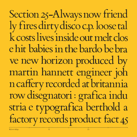 Section 25 - Always Now 5xLP