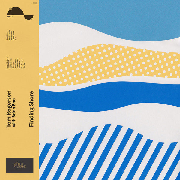 Tom Rogerson with Brian Eno - Finding Shore (Opaque Blue Vinyl) LP