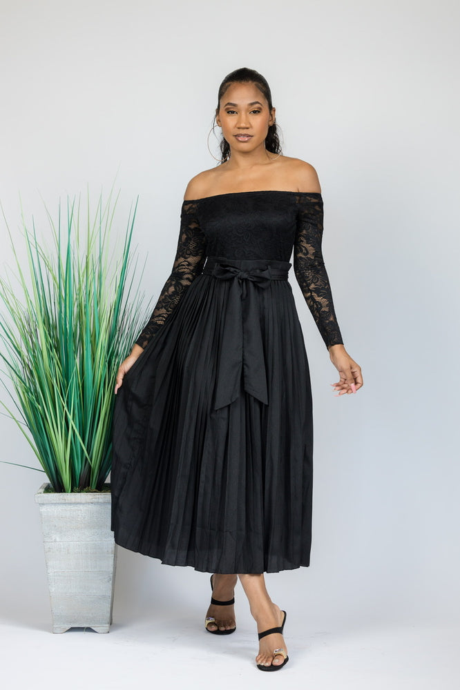 Love And Lace Pleated Dress