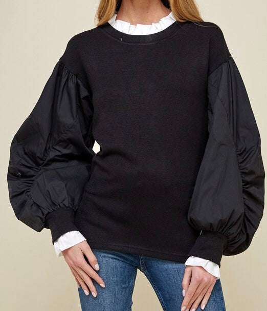 Puffer Sleeve Blouse
