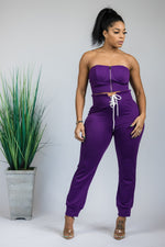Around The Way Pant Set PURPLE