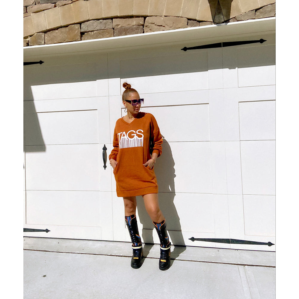 TAGS Tunic Dress - Rust