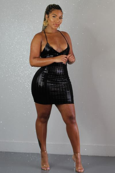 Penthouse Views Metallic Dress